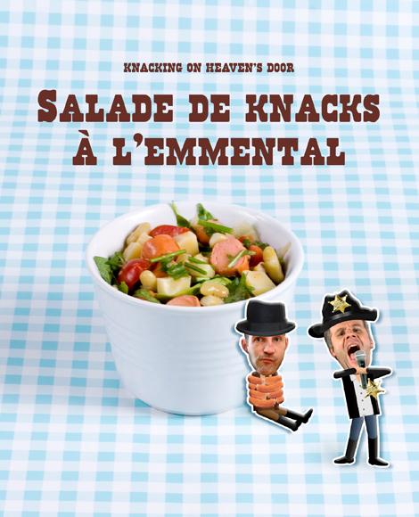 Salade de knacks a l'emmental