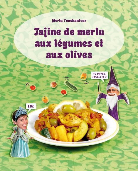 Tajine de merlu aux legumes et aux olives