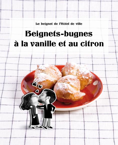 Beignets bugnes vanille citron