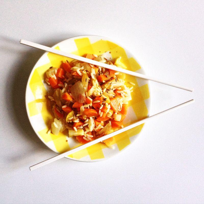 Riz parfume-fenouil-carottes-pomme-citron-carvi