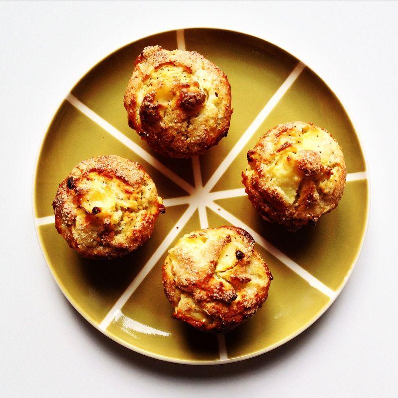 Muffins-pomme-poire-ricotta-pavot